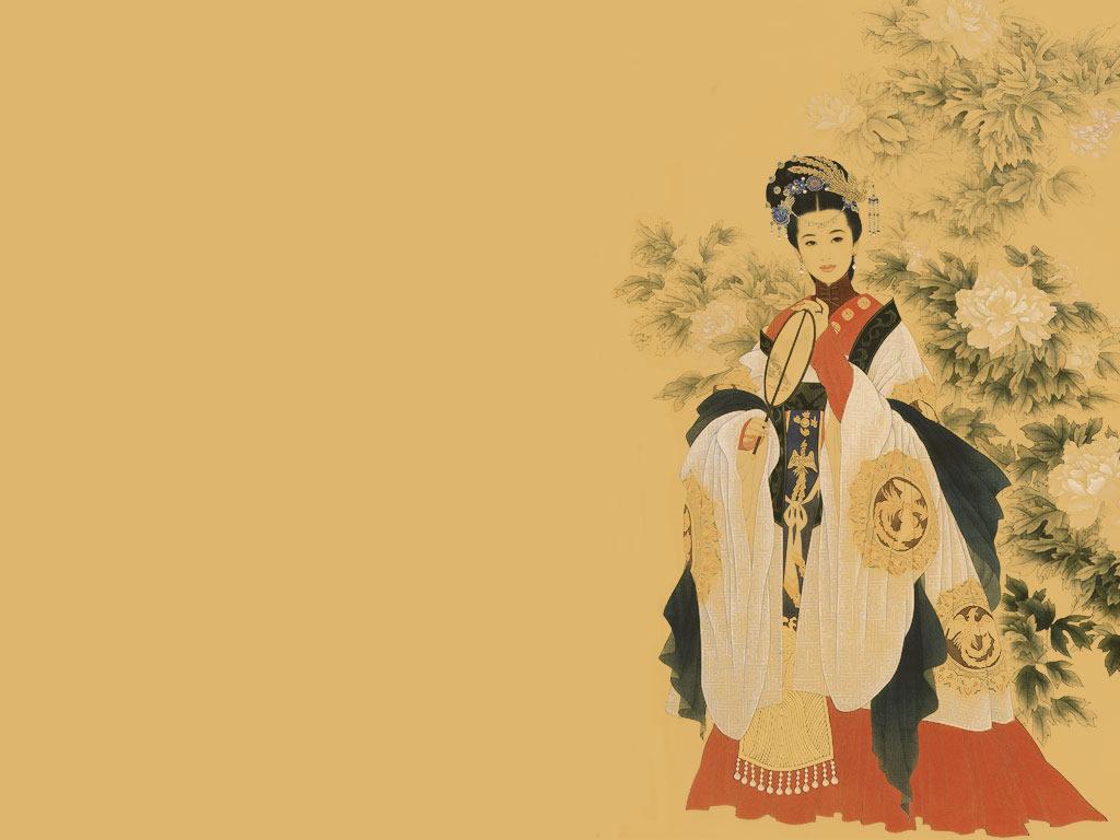 壁纸1024×768古代仕女图壁纸