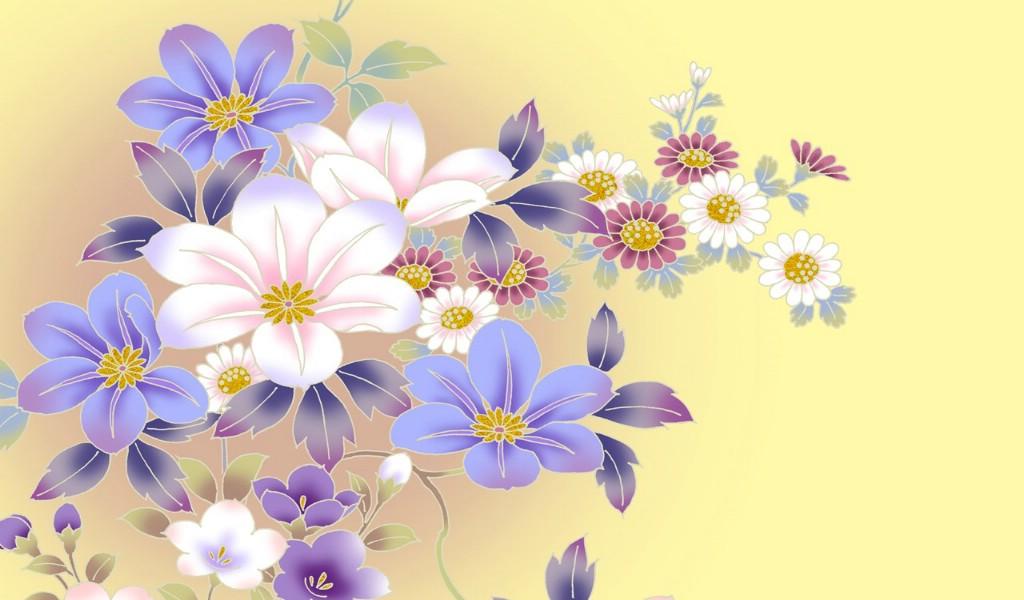 创意简笔画花