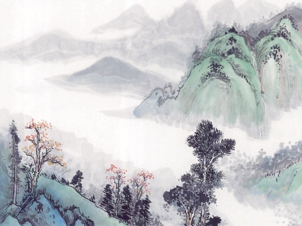 壁纸1024×768中国笔墨山水画壁纸壁纸 中国笔墨山水画壁纸壁纸图片创意壁纸创意图片素材桌面壁纸