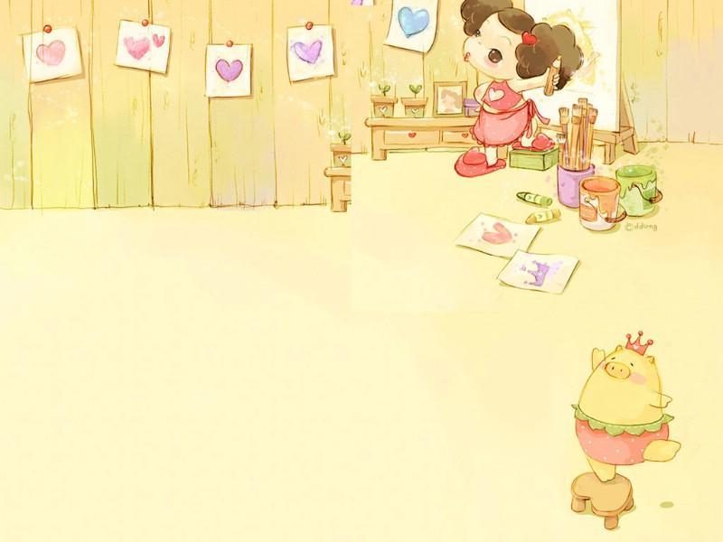 韩国可爱卡通图片小女孩-余下全文>>