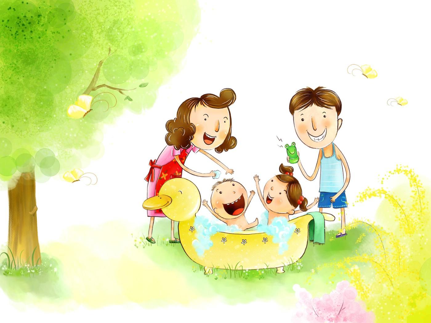 Счастливая семья картинка