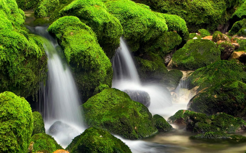 壁纸桌面护眼风景瀑布动态山水瀑布风景桌面瀑布