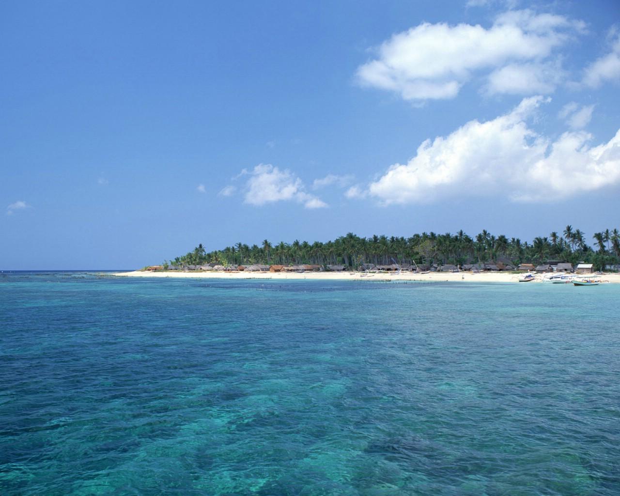 壁纸 风景壁纸/壁纸1280×1024舒服蔚蓝色大海风景壁纸壁纸...