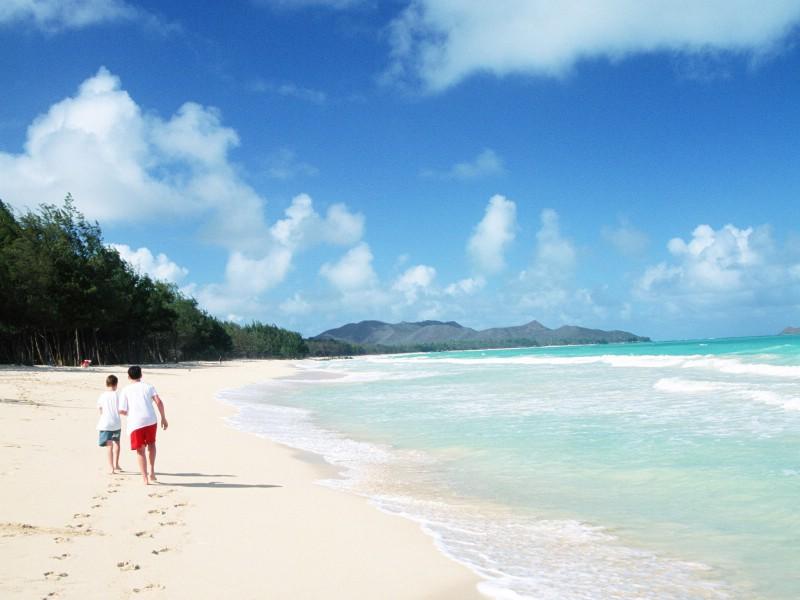 夏日休闲与阳光海滩壁纸图片风景壁纸风景图片