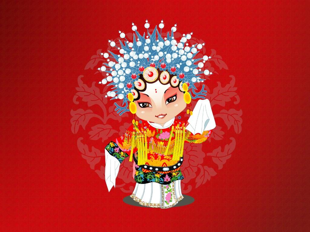 卡通京剧人物壁纸壁纸图片节日壁纸节日图片素材桌面