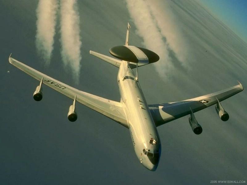 壁纸800×600E-3 望楼 预警飞机壁纸 E-3望楼预警飞机壁纸图片军事壁纸军事图片素材桌面壁纸