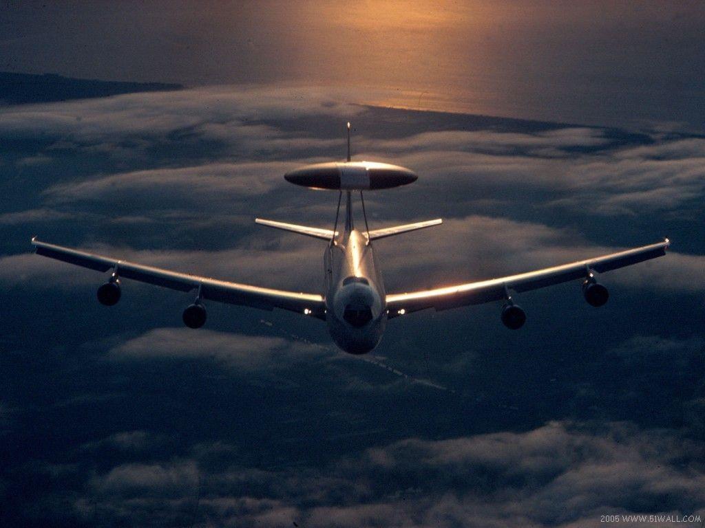 壁纸1024×768E-3 望楼 预警飞机壁纸 E-3望楼预警飞机壁纸图片军事壁纸军事图片素材桌面壁纸