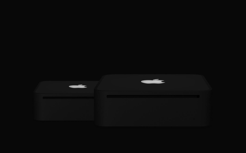 桌面背景黑色苹果